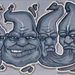 _youl__graffiti_with_heads_on_canvas_by_youldesign-d6tl7r9