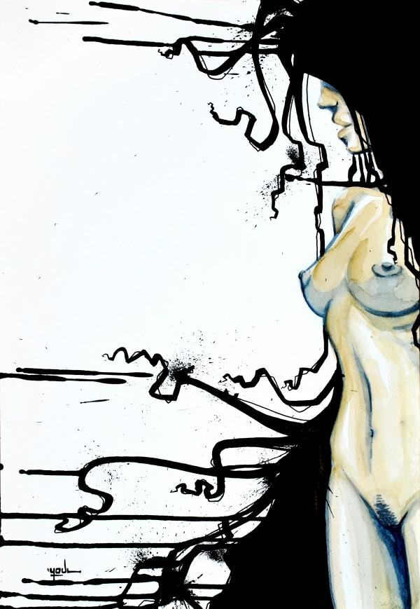 DarkHairz (Aquarelle) Vendue/Sold