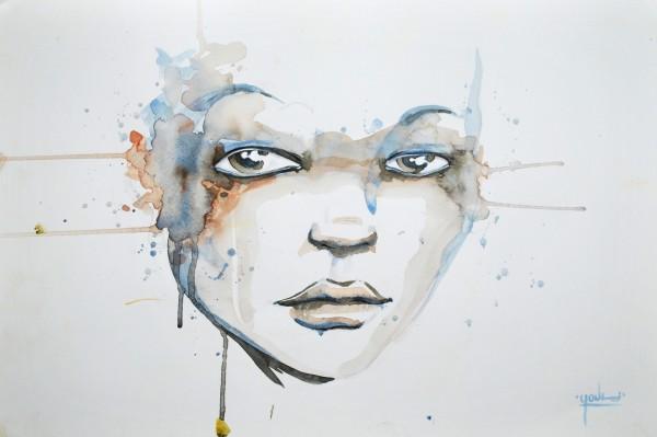 Tachée (Aquarelle) - Vendue/Sold