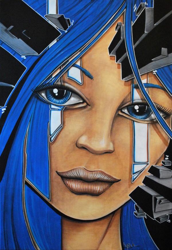 Blue Hairz (Toile) - Vendue/Sold