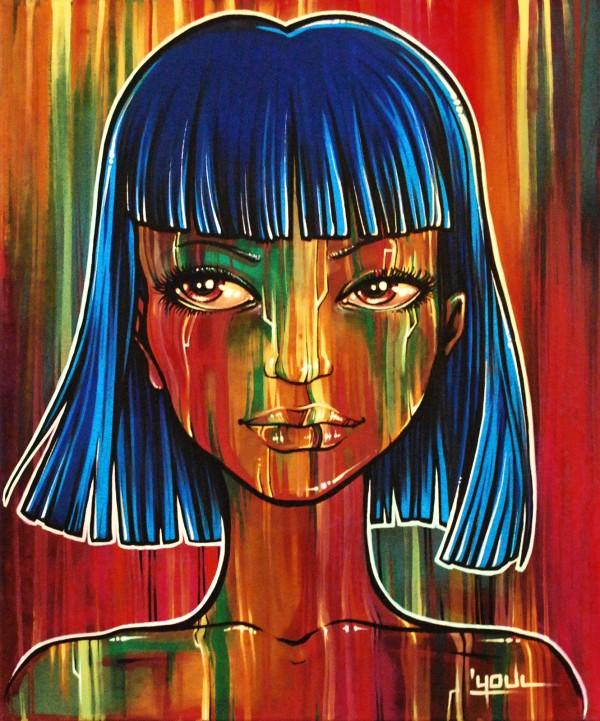 Blue Wire (Toile) - Vendue/Sold
