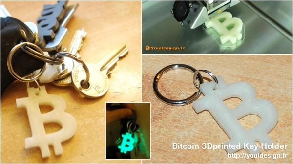 Bitcoin 3Dprinted KeyHolder