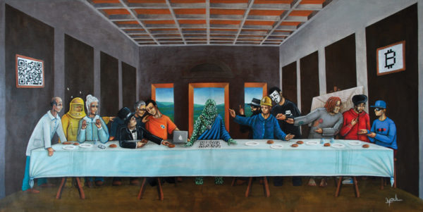 The Last Bitcoin Supper (Deluxe Limited & signed /15ex Art Print)